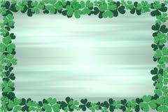 Shamrock Frame. Shamrocks over blurred green background Royalty Free Stock Photos