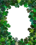 Shamrock Frame. Some parts are textured Royalty Free Stock Image