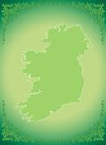 Shamrock frame background Stock Image