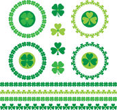 Shamrock frames and borders Royalty Free Stock Photos