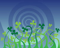 Shamrock glade Royalty Free Stock Image