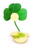 Shamrock gold. 3D illustration on the theme: St. Patricks Day Royalty Free Stock Photo