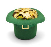 Shamrock Gold Leprechuan Hat stock photo