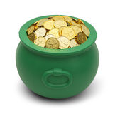 Shamrock Gold Pot royalty free stock photos
