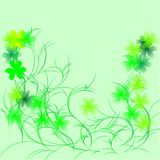 Shamrock on a green Royalty Free Stock Image