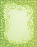 Shamrock Green Swirl Border Royalty Free Stock Image