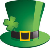 Shamrock Hat. St. Patrick's day decorations on white background Stock Photos