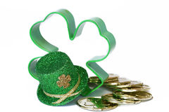 Shamrock Hat & Cookie Cutter Royalty Free Stock Images