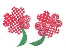 Shamrock Heart Flowers art. Shamrock Heart Flowers, original artwork Royalty Free Stock Photos