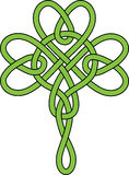 Shamrock icon pattern. Celtic style, green creative clover. St Patricks Day vector illustration Stock Photos
