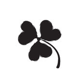 Shamrock  Icon For St. Patrick Day. Stock Photography