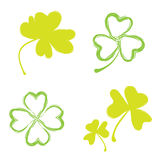 Shamrock  Icon For St. Patrick Day. Royalty Free Stock Image