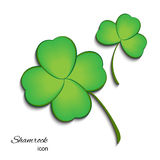 Shamrock  Icon For St. Patrick Day. Royalty Free Stock Images