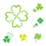 Shamrock  Icon For St. Patrick Day. Royalty Free Stock Photo