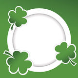 Shamrock illustration card for St. Patricks Day Stock Photography