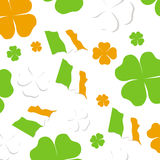 Shamrock Irish pattern Stock Photography
