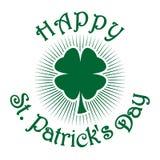 Shamrock-Klee Blattklee des Grüns vier Feiersymbol St. Patricks Tages lizenzfreie abbildung