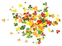 Shamrock-Konfetti-Muster stock abbildung