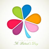 Shamrock leaf for Happy St. Patricks Day celebration. Royalty Free Stock Photography