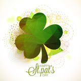 Shamrock leaf for St. Patrick's Day celebration. Royalty Free Stock Images