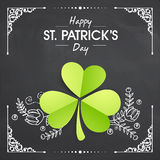 Shamrock Leaf for St. Patrick's Day celebration. Stock Photos