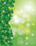 Shamrock Leaves with Bokeh Border Illustration Stock Photos