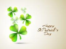 Shamrock leaves for Happy St. Patricks Day celebration. Royalty Free Stock Image