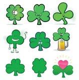 Shamrock Mascot Icons Royalty Free Stock Images