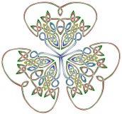 Shamrock mit drei Blättern Stockfotos