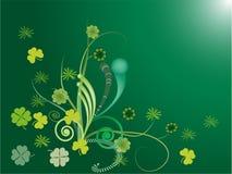 Shamrock och Swirl royaltyfri illustrationer