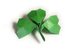 Shamrock paper Stock Photography