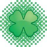 Shamrock Pattern. A green four leaf clover pattern Stock Images