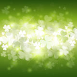 Shamrock Pattern Background Saint Patrick Day Beer Festival Banner. Flat Vector Illustration Royalty Free Stock Images