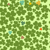 Shamrock pattern. Shamrock leave cloverleaf grass seamless saint Patrick day pattern Royalty Free Stock Photo