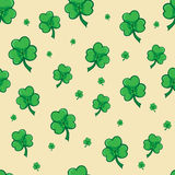 Shamrock pattern, seamless pattern for Saint Patrick day, Seamless pattern made from cloverleaf. Seamless pattern made from cloverleaf, Shamrock pattern Royalty Free Stock Image