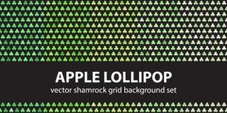 Shamrock pattern set Apple Lollipop Royalty Free Stock Photos