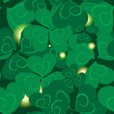 Shamrock  Pattern for St. Patrick Day. Royalty Free Stock Photography