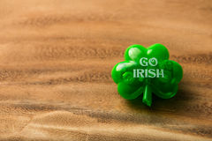 Shamrock pin for st. Patrick's Day Stock Photo