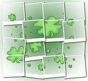 Shamrock polaroid mosaic Stock Image