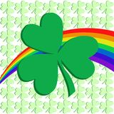 Shamrock and Rainbow Royalty Free Stock Image