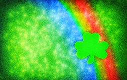 Shamrock Rainbow Sparkle Background Royalty Free Stock Photo