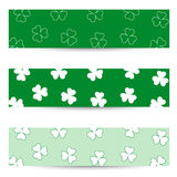 Shamrock seamless banners Royalty Free Stock Images