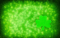 Shamrock Sparkle Background Royalty Free Stock Photos