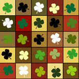 Shamrock squares background Stock Images