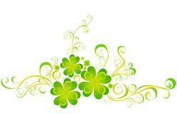 Shamrock for St.Patrick's Day. Vector  Royalty Free Stock Photography