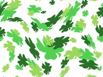 Shamrock St. Patricks day background Stock Image
