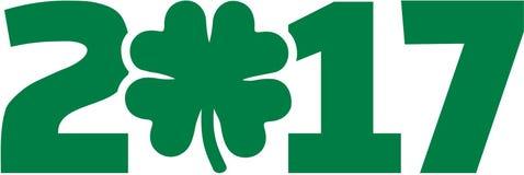 2017 shamrock St. Patricks day. Icon royalty free illustration