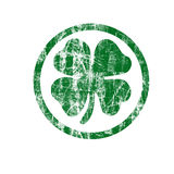 Shamrock Stamp Illustration with Clipping Path Royalty Free Stock Photography