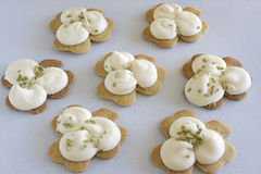 Shamrock Sugar Cookies Royalty Free Stock Image