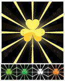 Shamrock and sunburst Stock Photos